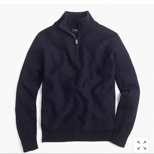 J. Crew Cotton Half-Zip Sweater
